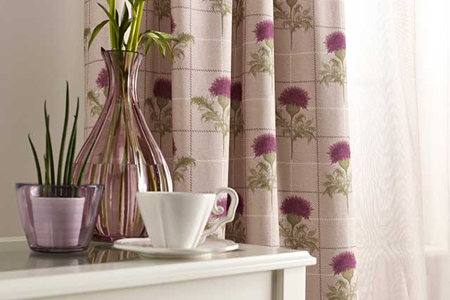 Country Friends Thistle Curtain